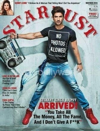 Sushant Singh Rajput,Sushant Singh Rajput on Stardust magazine,Stardust magazine,Sushant Singh,Sushant Singh Rajput has Arrived,No Photos Allowed