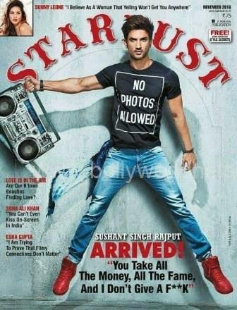 Sushant Singh Rajput on Stardust cover