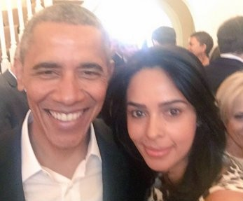 Mallika Sherawat,Mallika Sherawat meets charismatic Barack Obama,Mallika Sherawat meets Barack Obama,charismatic Barack Obama,Barack Obama