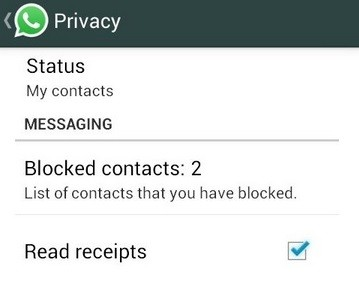 How to turn off blue tick marks in Whatsapp