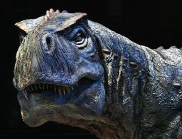 An animatronic model of a Tyrannosaurus