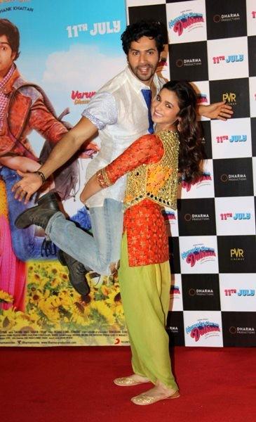 Varun Dhawan and Alia Bhatt at Trailer launch of upcoming film 'Humpy Sharma Ki Dulhania'