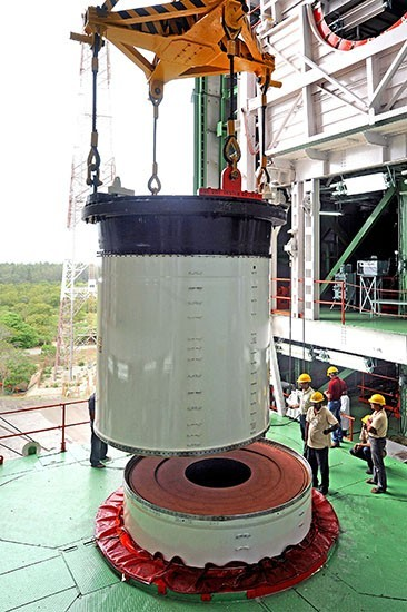 4 Joining of two segments of PSLV-C25 in Mobile Service Tower