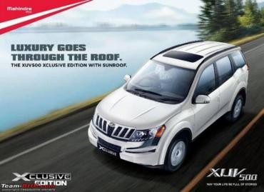 Mahindra to Launch XUV500 W8 Xclusive Edition with Sunroof