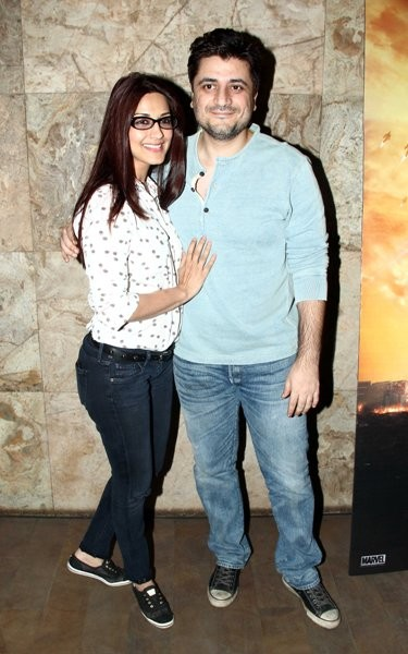 Sonali Bendre  and Goldie Behl at special screening of 'X-Men: Days of Future Past'