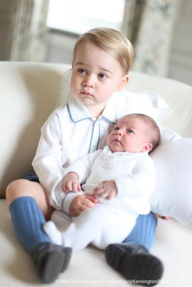 Prince George with little sister Princess Charlotte captured by mummy Kate Middleton