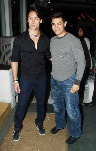 Tiger Shroff and Aamir Khan at