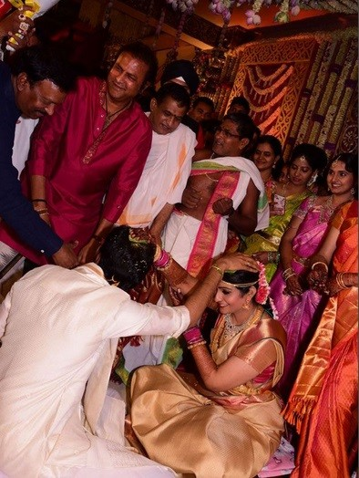 Mohan Babu at Allari Naresh's Wedding