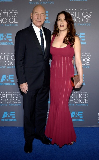 Patrick Stewart and his wife Sunny Ozell