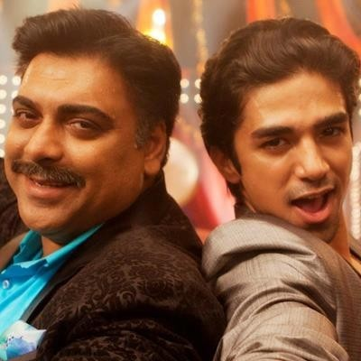 "Ram Kapoor(L) with Saqib Saleem in ""Mere Dad Ki Maruti"""