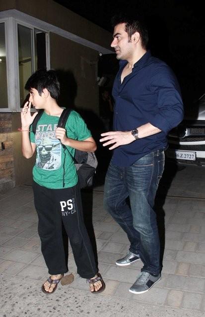 Arbaaz Khan and his son Arhaan Khan