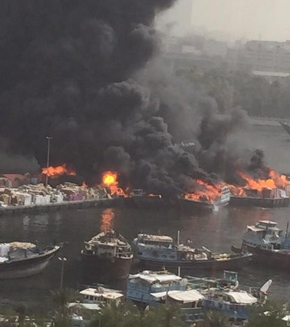 Fire at Dubai Creek