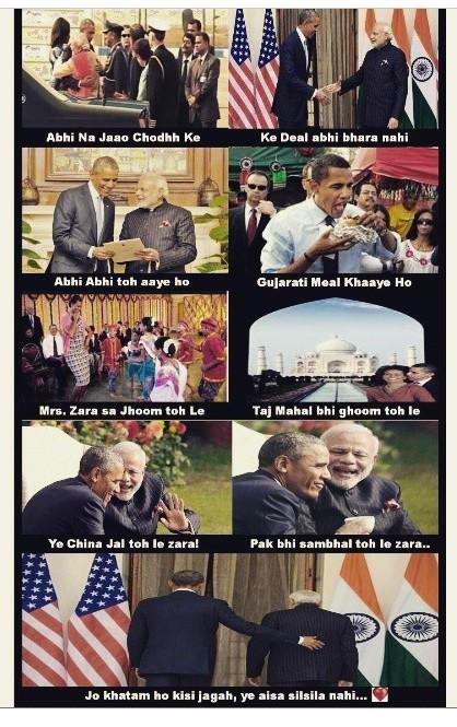 A Meme that surfaced online after Barack Obama's India visit
