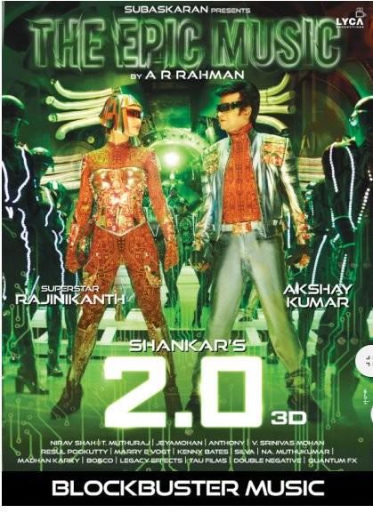 Rajinikanth,Akshay Kumar,Amy Jackson,2.0 New poster,2.0 poster