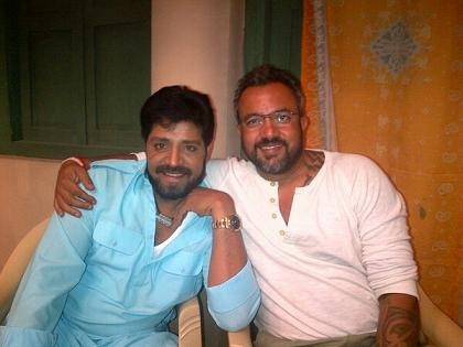 Srihari (Left) with director Apoorva Lakhia (Twitter/Apoorva Lakhia)