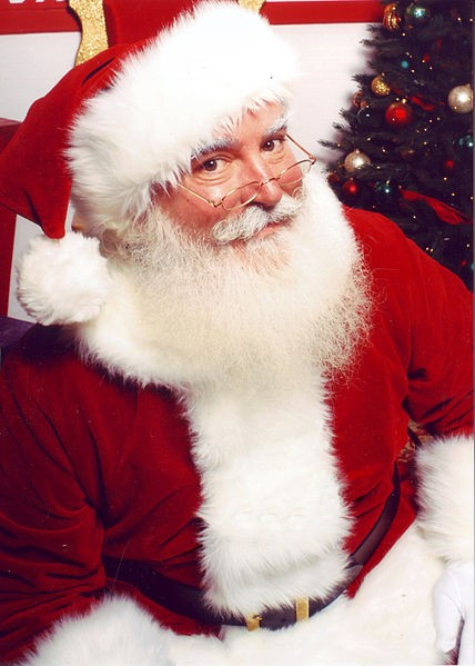 Santa Claus portrayed by children's television producer Jonathan Meath.