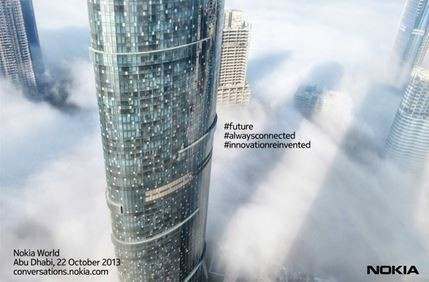 Nokia Teases Towering Abu Dhabi Sky Scrapper Snapshot Ahead of 22 October Nokia World Event