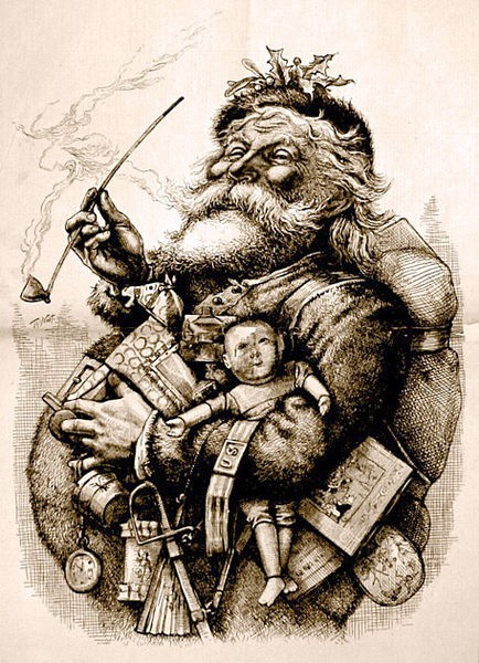 Thomas Nast immortalized Santa Claus' current look with an initial illustration in an 1863 issue of Harper's Weekly