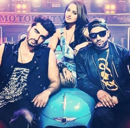 Sonakshi SInha, Arjun Kapoor and 'Amplifier' singer Imran Khan shoot for 'Tevar'