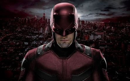 Charlie Cox in his new Daredevil suit