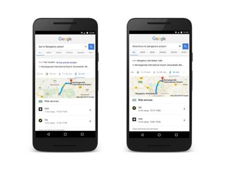 Google Search makes it easier for you to book a cab