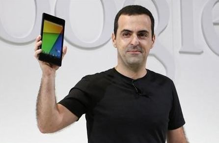 Hugo Barra, director of Product Management at Android, holds the new Nexus 7 tablet during a Google event at Dogpatch Studio in San Francisco, California, July 24, 2013. Credit: Reuters/Beck Diefenbach