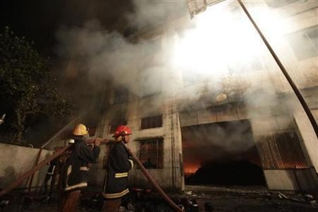 Fire in Bangladesh garment factory