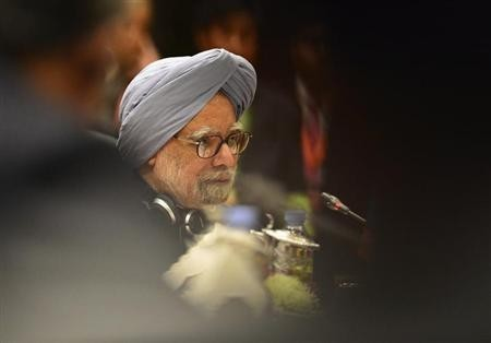 Prime Minister Manmohan Singh delivers his opening speech at the 11th ASEAN-India Summit in Bandar Seri Begawan, October 10, 2013.