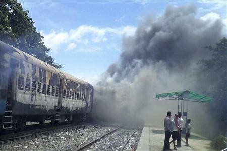 Bomb blast on an Indian train, Indian Railways