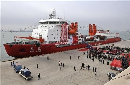 Chinese ice breaker ship ''Xuelong'', also called ''Snow Dragon''