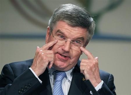 Thomas Bach of Germany gestures during his acceptance speech after he was elected the ninth president of the International Olympic Committee (IOC) succeeding Jacques Rogge during a vote in Buenos Aires, September 10, 2013.