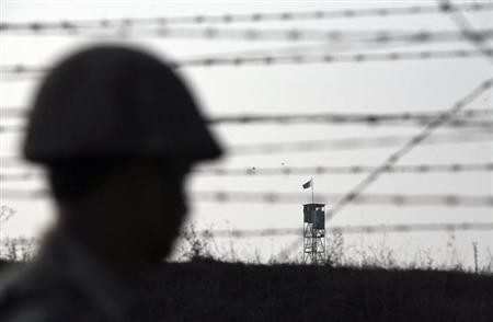 Ceasefire violation by Pakistani troops at LoC, Kashmir.