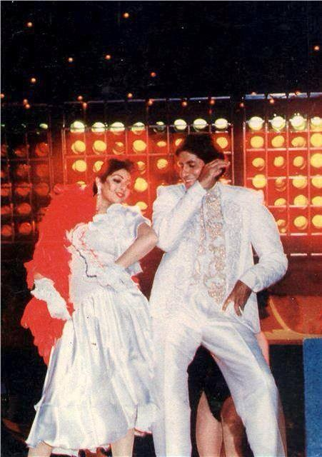 Amitabh Bachchan and Sridevi