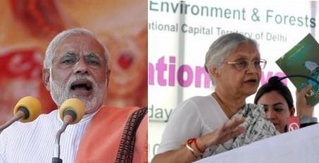 Narendra Modi vs Sheila Dikshit