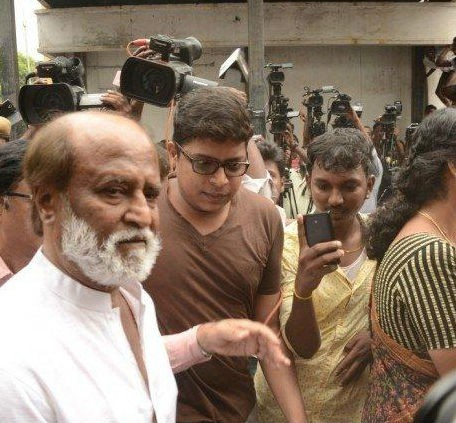 Rajinikanth pays his last respect to MS Viswanathan,Rajinikanth,super star Rajinikanth,MS Viswanathan