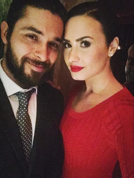 Demi Lovato and Wilmer Valderrama on Valentine's Day 2015
