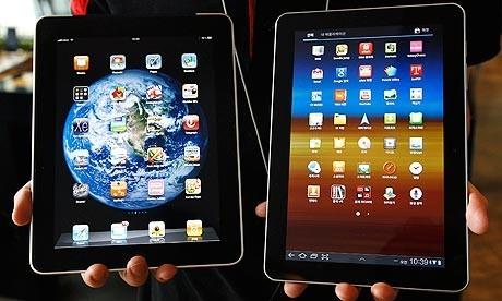 Tablets on display