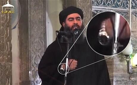 al-Baghdadi's Rolex watch has turned into a Twitter joke, with some calling it fake, Made in China imitation material.