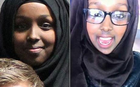 British Twins Zahra and Salma Halane, 17,