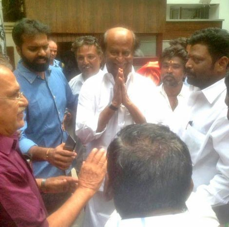 Rajinikanth met his fans,Rajinikanth,Rajinikanth latest pics,Rajinikanth latest images,Rajinikanth latest photos,Rajinikanth latest stills,Rajinikanth latest pictures