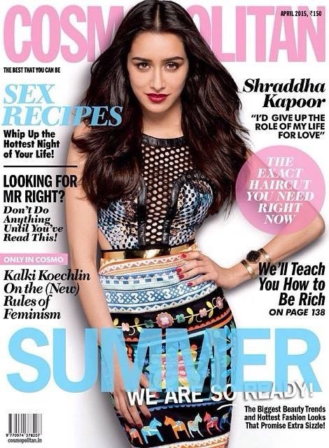 Shraddha Kapoor featured in the cover page of Cosmopolitan
