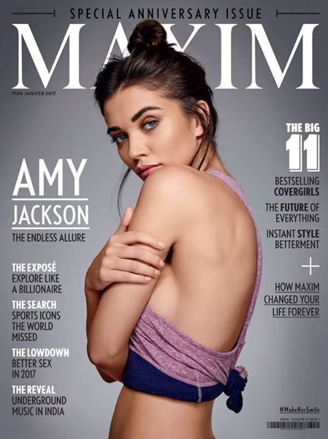 Amy Jackson on the Cover Page of Maxim India January 2017 ...