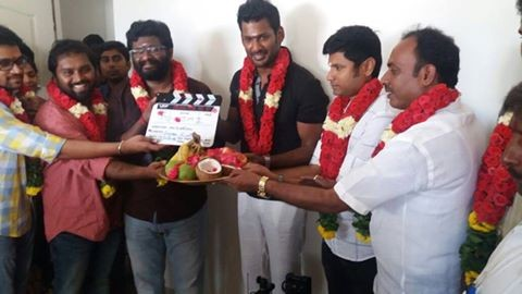 Irumbu Thirai,Irumbu Thirai movie launch,Irumbu Thirai movie pooja,Vishal,Samantha,Arya,Irumbu Thirai movie launch pics,Irumbu Thirai movie launch images,Irumbu Thirai movie launch stills,Irumbu Thirai movie launch pictures,Irumbu Thirai movie launch phot