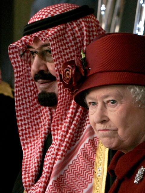 Saudi King with Queen Elizabeth