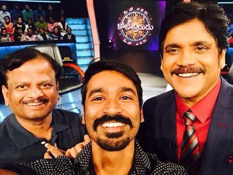 Dhanush Promoting Anegan in Telugu crorepati show with Nagarjuna