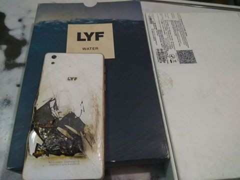 Reliance Jio 4G real-world effect: LYF Water 1 handset explodes while browsing internet, photos go viral