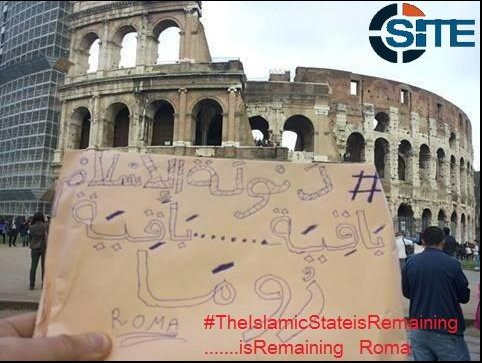 Isis announces its presence in Rome.