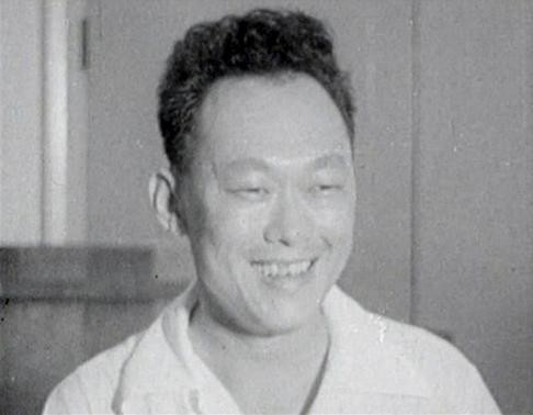 Lee Kuan Yew smiles after the People's Action Party (PAP) won in Singapore's national elections in this still image taken from video in this May, 1959 file photo