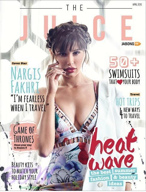 Nargis Fakhri featured in the cover page of The Juice
