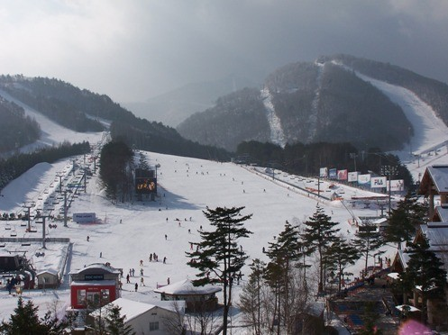 Dragon Valley ski resort will be at the center of PyeongChang Winter Games (Wiki Commons)